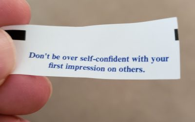 Fortune cookie wisdom?